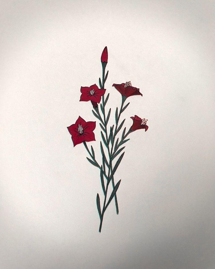 2018:10 - illustration, botanical - nico_tattoolandes | ello