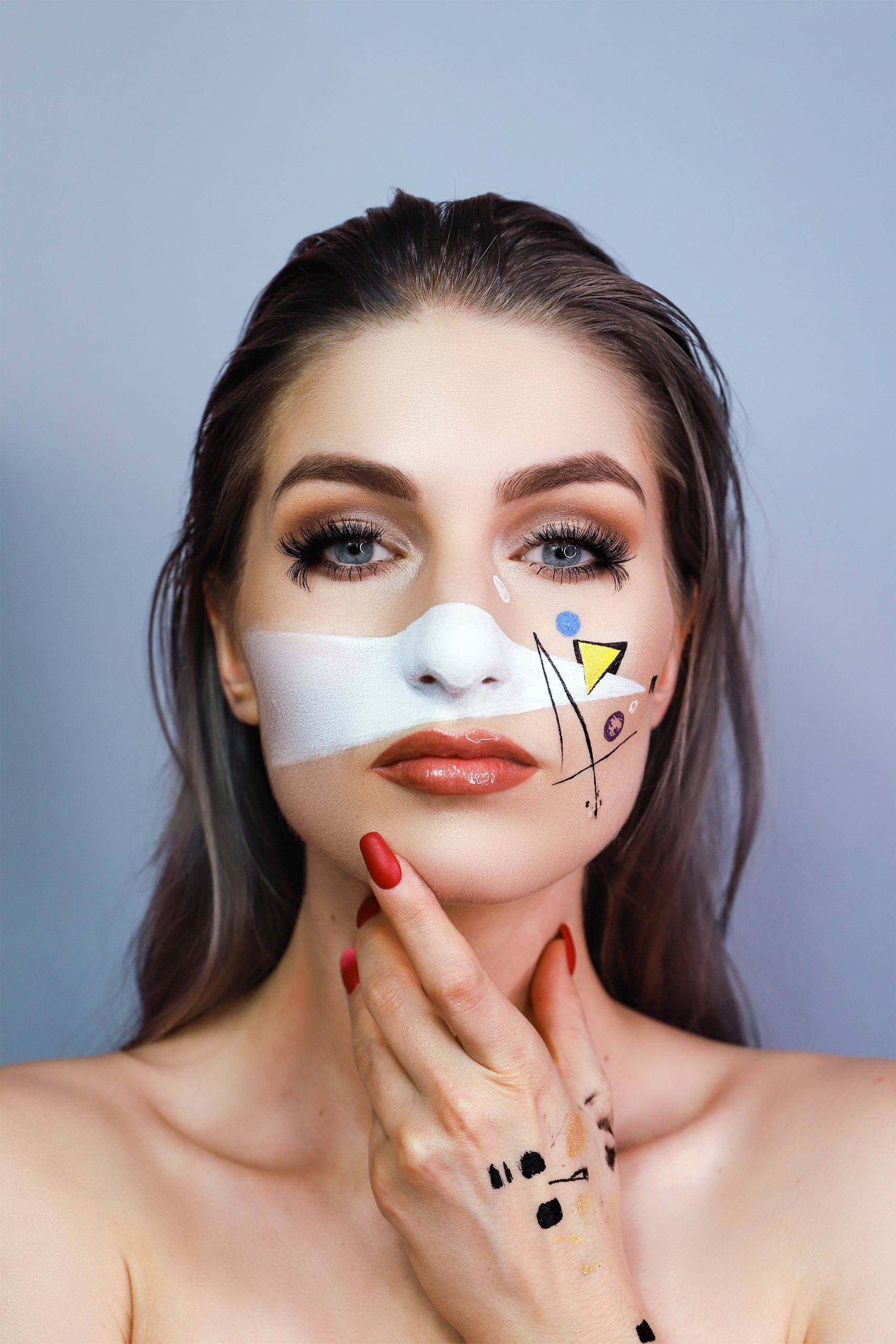 Make-up inspirowany obrazem. 'Kompozycja_VIII' by Wassily_Kandinsky