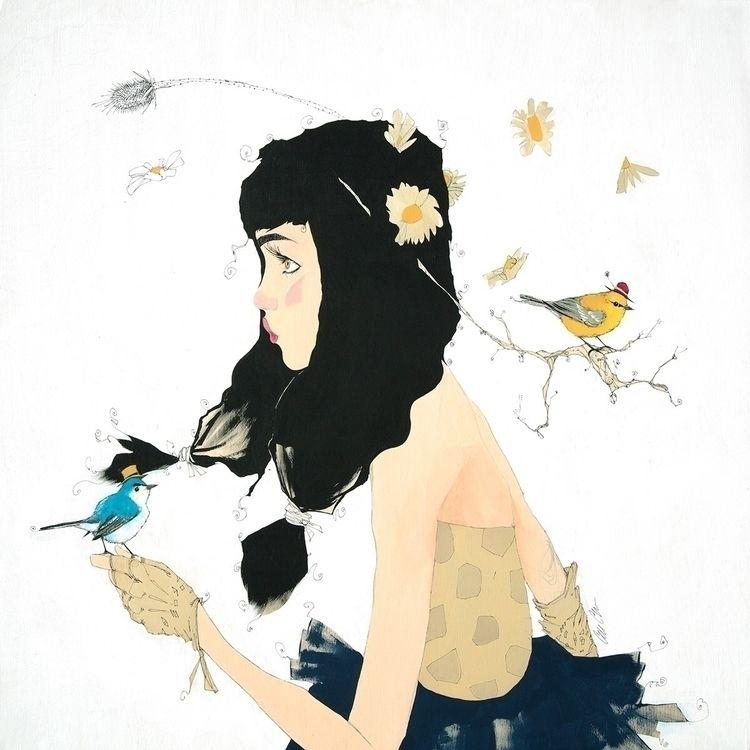 """Birder - cordellcordaro, painting - cordellcordaro | ello"