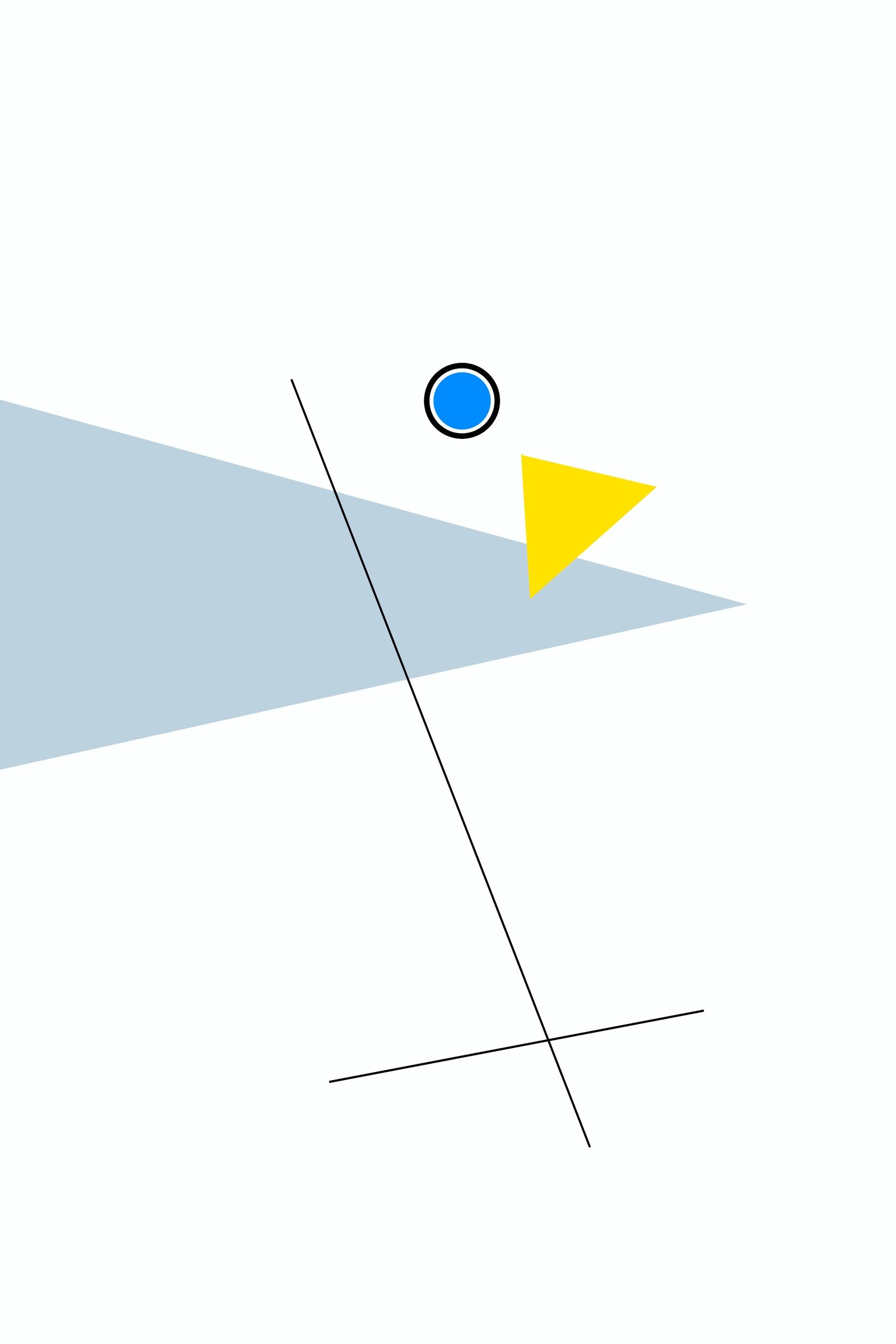 Obraz przedstawia graficzne kształty na białym tle.