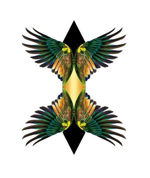 Double Wings Diamond T_Shirt De - mrmartonline   ello