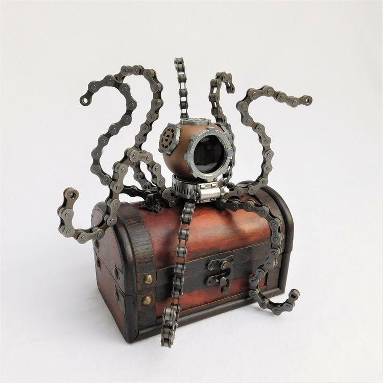 steampunk octopus helmet sculpt - peteandveronicas | ello