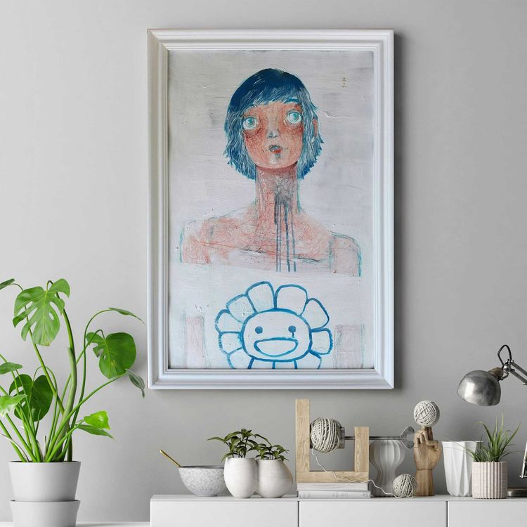 Frame Polished Glass Blue hair - diegogabriele   ello