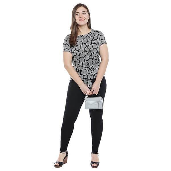 Buy Black Grey Knitted Jacquard - calae_plus_size_store | ello