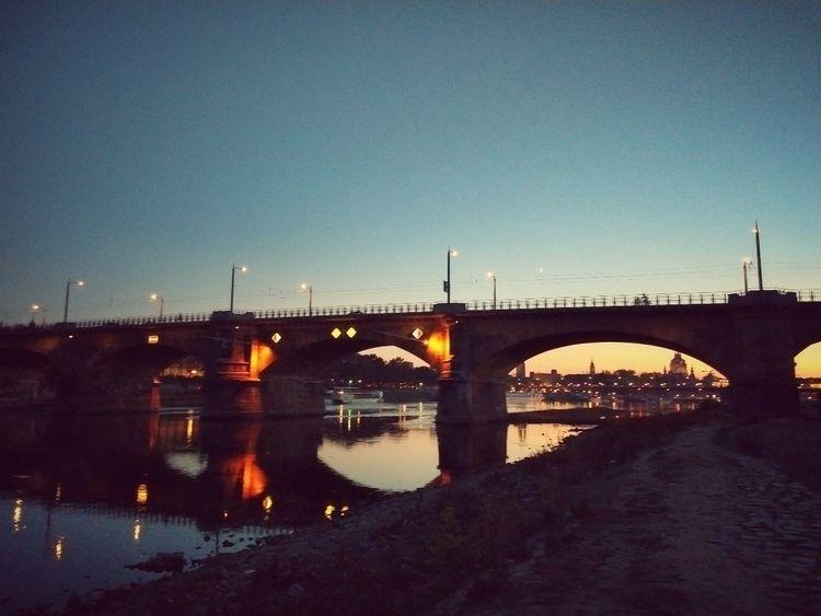 sunset, evening, bridge, river - claudio_g_c | ello