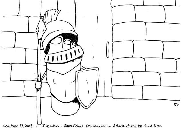 foot warrior guard Day 13 Inkto - svaeth | ello