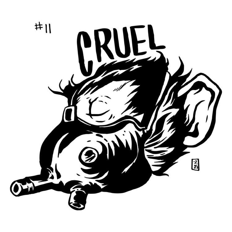 Inktober Day 11 Cruel - inktober - thomcat23 | ello