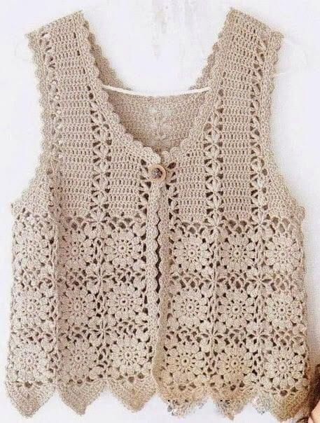 perfect crochet vest model simp - brunacrochet | ello