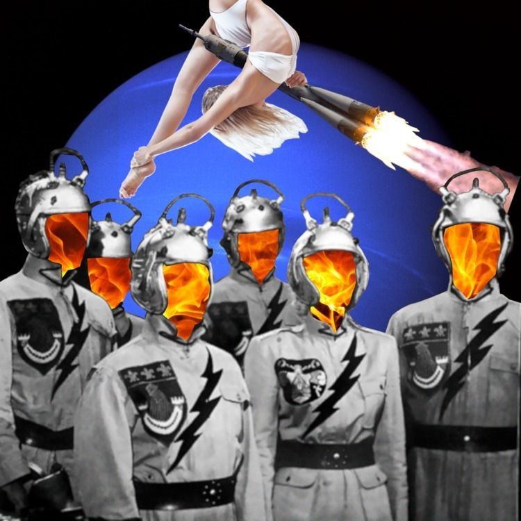 Blastoff Bootie Digital Collage - johnnylemuria | ello