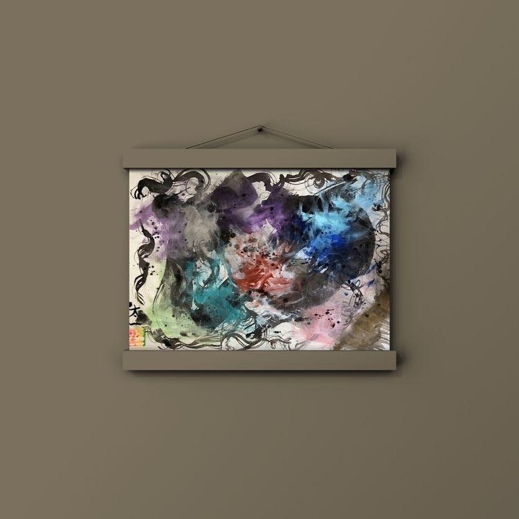 abstract painting inTwitterLive - taichi_nagayama | ello