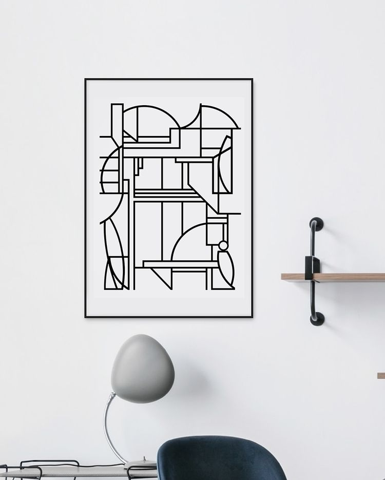 Abstract, geometric interpretat - cityabyss | ello