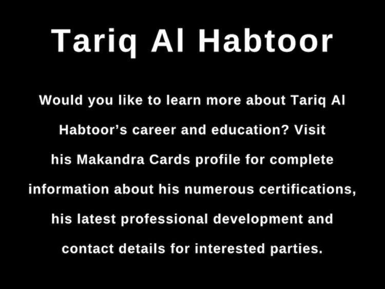 Tariq Al Habtoor - Areas Intere - tariqalhabtoor | ello
