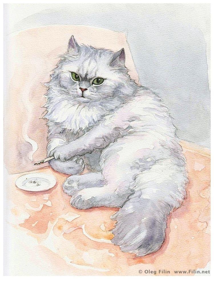 Waiting, watercolour paper Oleg - filin | ello