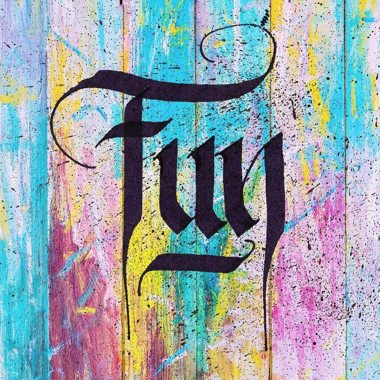 Fun - calligraphy, parallelpen, fun - gabifields | ello