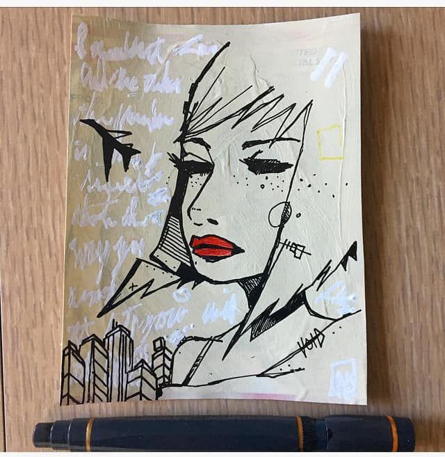 morning scribble 228 - art, streetart - aaronkraten | ello