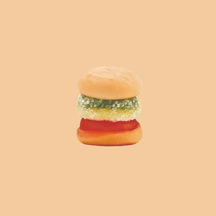 Gummy Burger - 24x24 painting s - psthatsme | ello