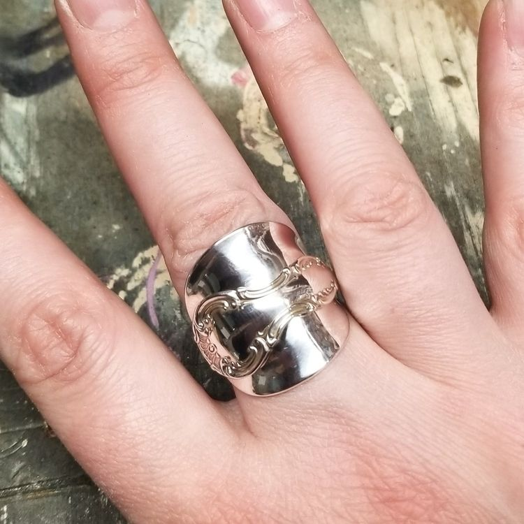 spoon ring Sterling Silver Stra - midnightjo | ello
