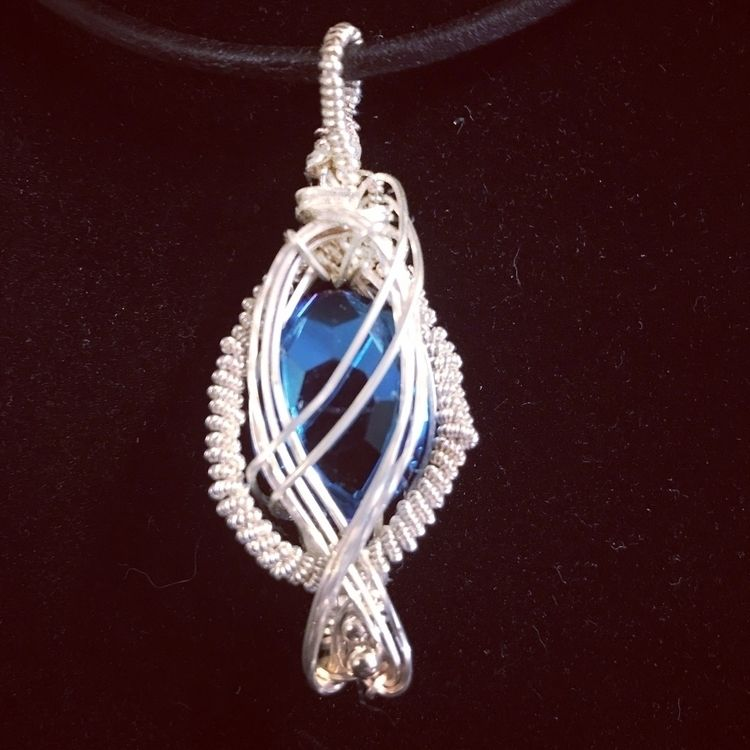Latest pendent blue glass bead  - dragonswings | ello
