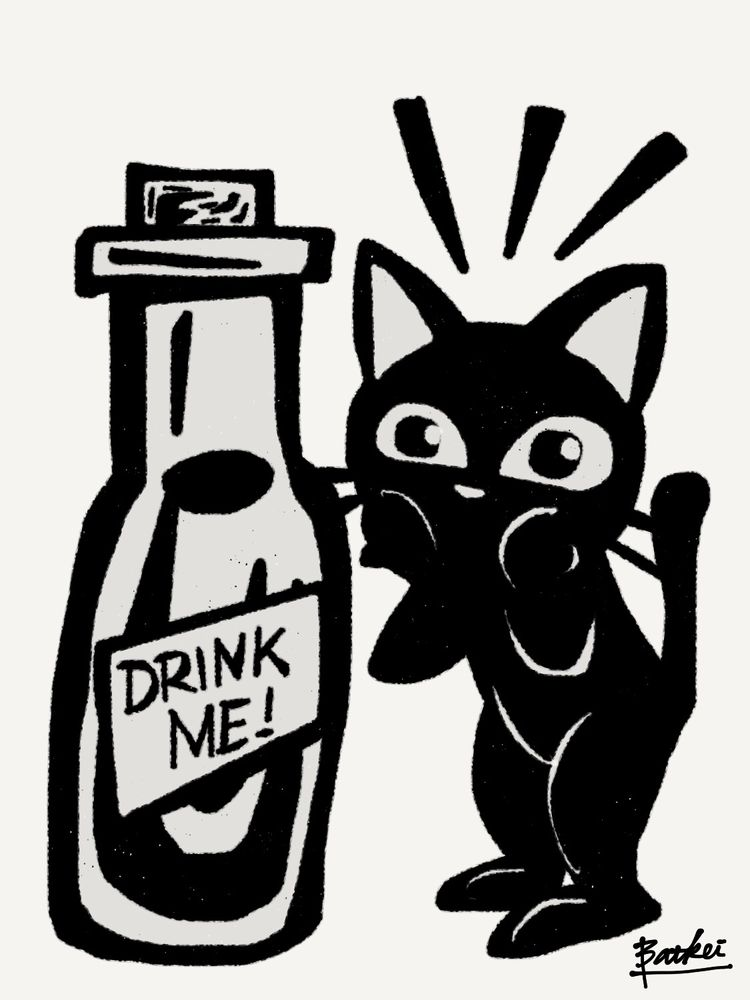 BOTTLE - cat, 猫, cats, kitty, feline - batkeiart | ello