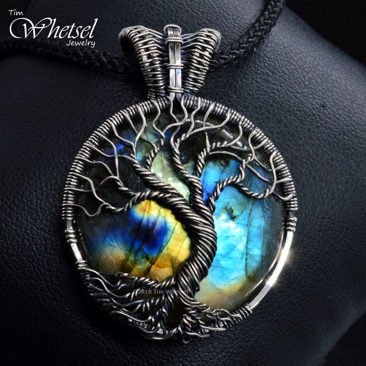 Labradorite Necklace - Tree Lif - tdwjewely | ello