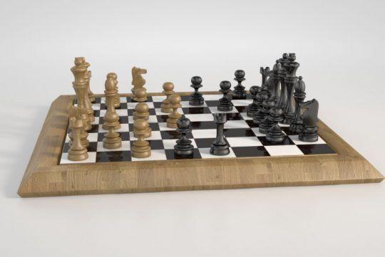 Chessboard 3D Model Vray - c4ddownload | ello
