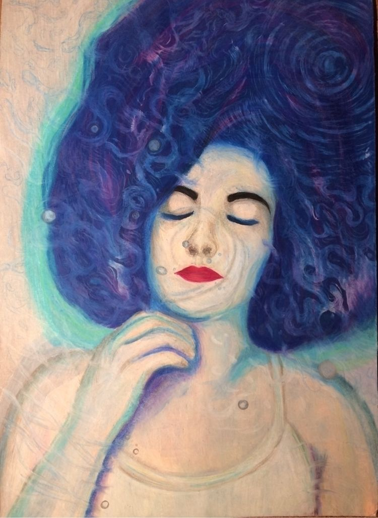"Lights"" (2016). Acrylic colored - seaofsirens   ello"