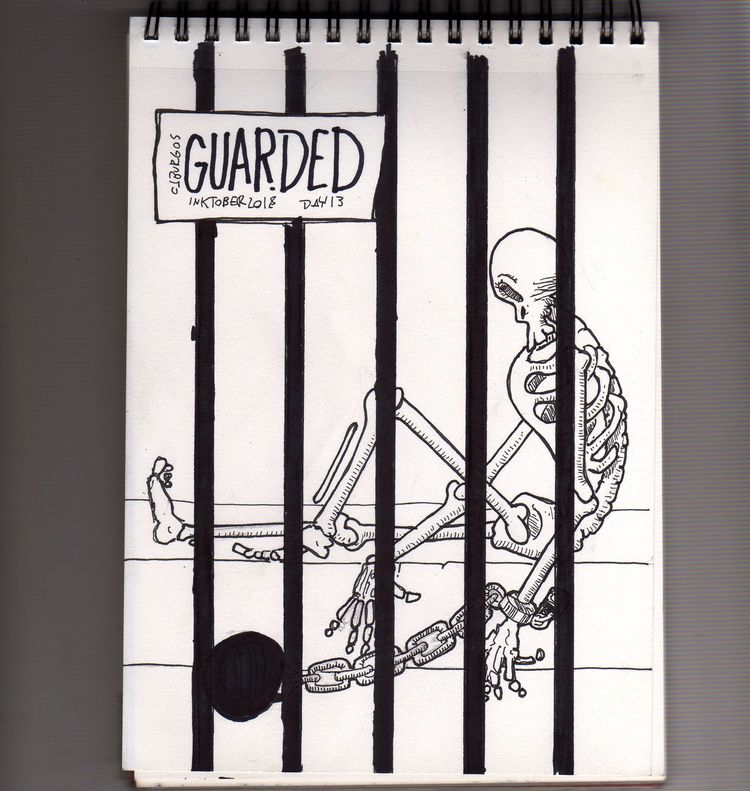 day 13 - inktober2018, guarded, cruel - cjburgos | ello