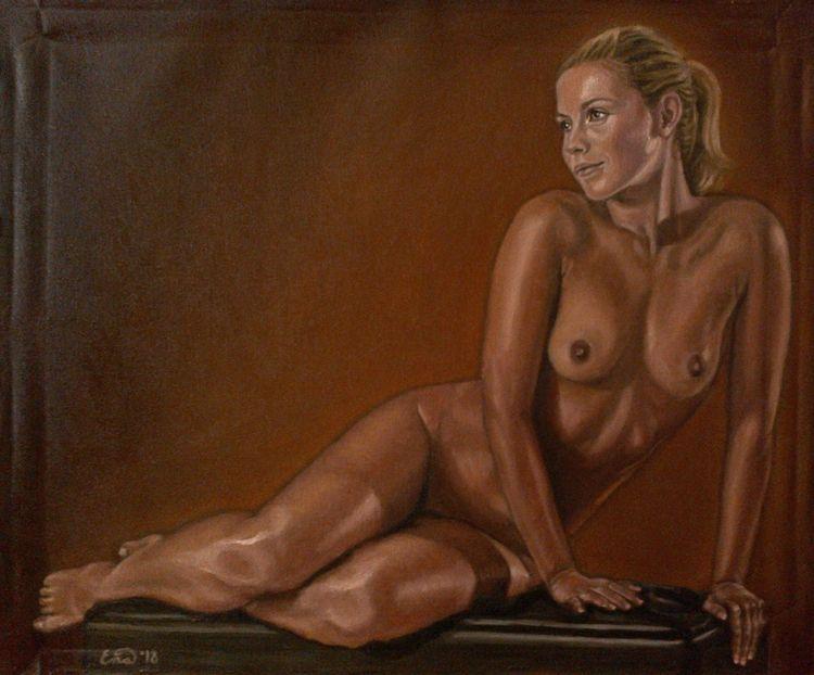 TIME IV Oil canvas 56x45cm SALE - enavarsavikova | ello