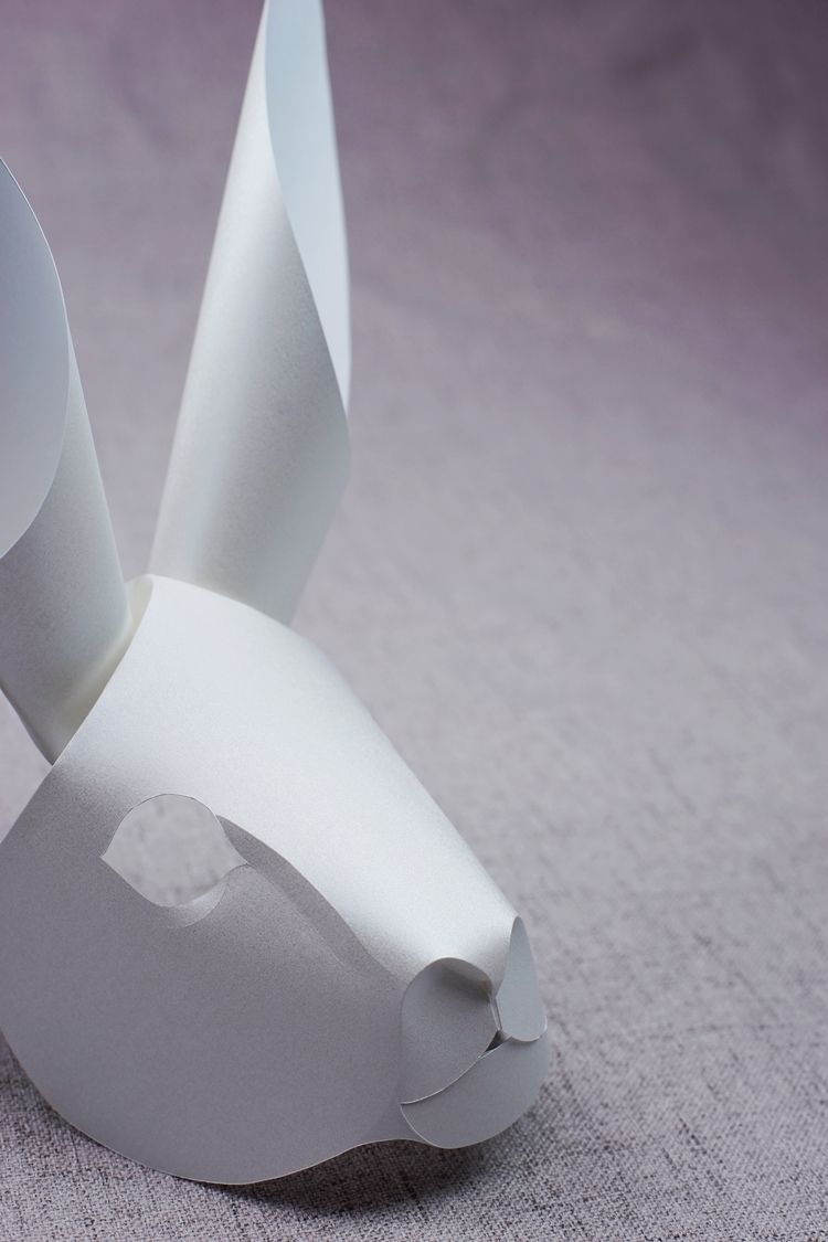 Curved Fold Origami - Rabbit - paper - maggieyong   ello