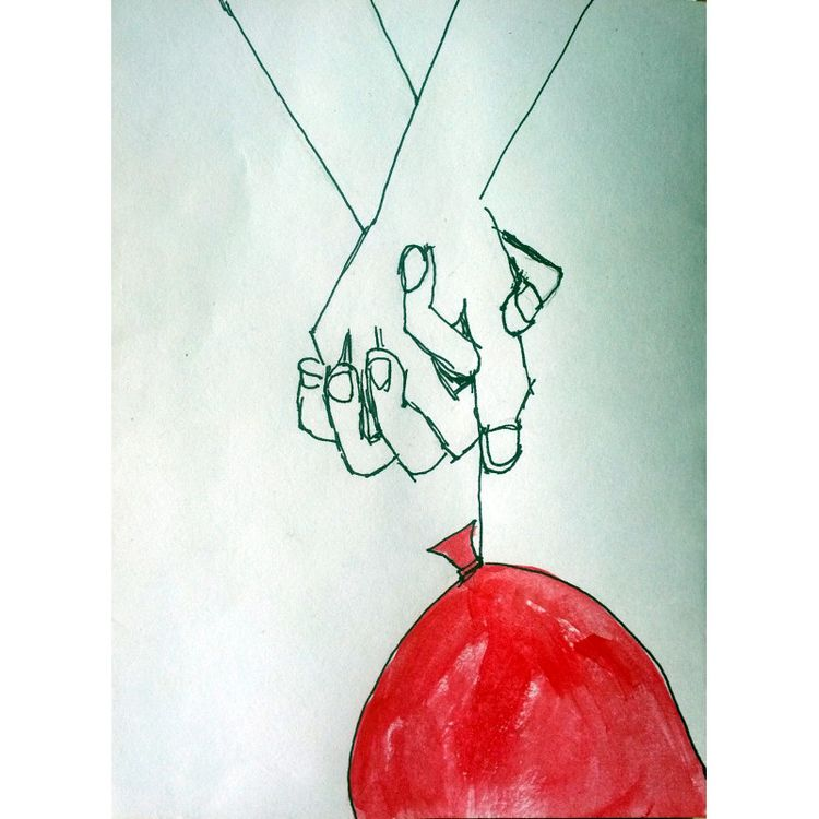 Hands Balloon 2018, latex ink p - artchrisdale | ello