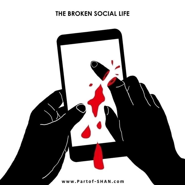 broken, sociallife, finger, social - partof_shan | ello