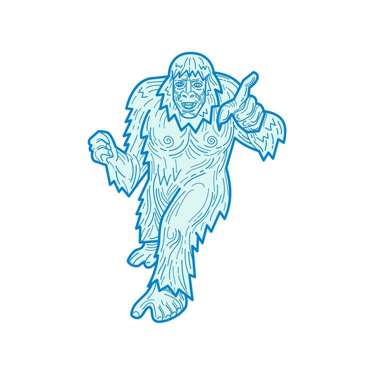 Yeti Abominable Snowman Mono Li - patrimonio | ello