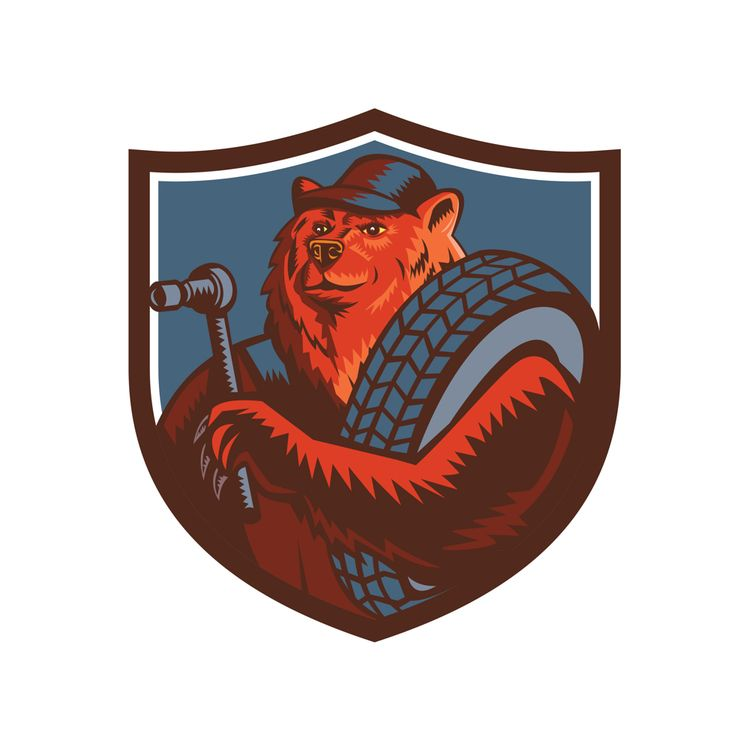 Russian Bear Tireman Shield Mas - patrimonio | ello