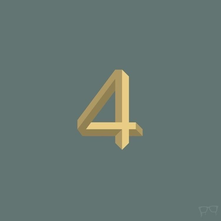 number4, type, numbers, 36daysoftype - bembureda | ello