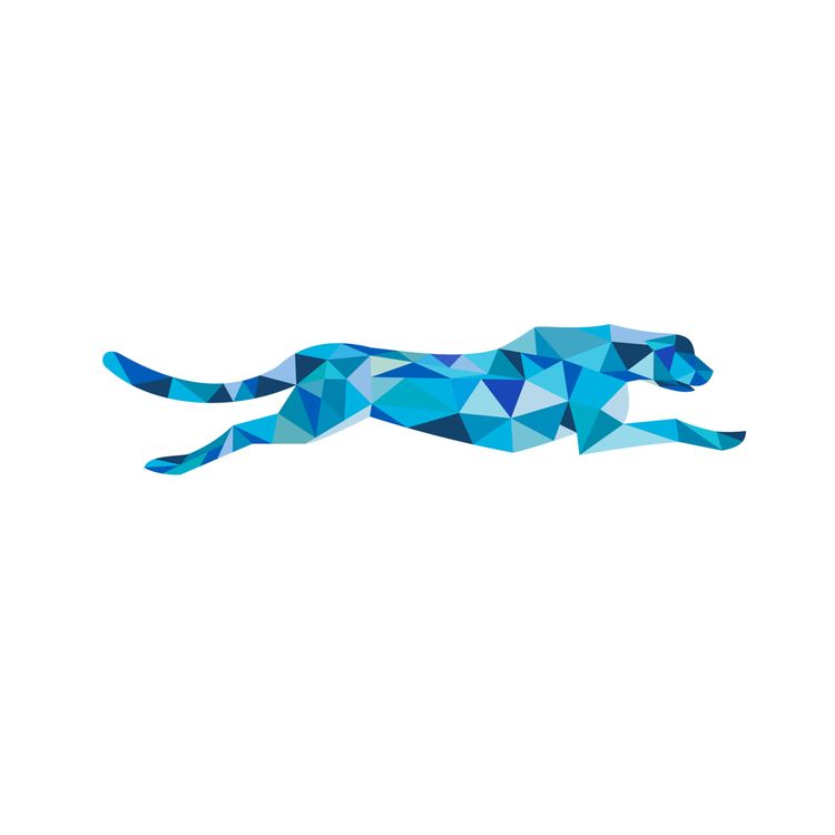 Cheetah Running Side Polygon - LowPolygon - patrimonio | ello