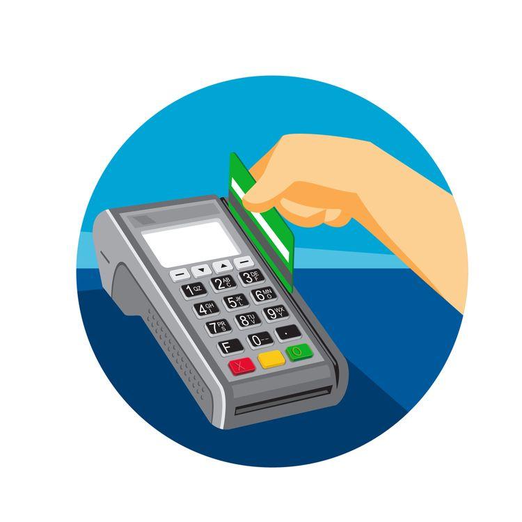 Hand Swiping Credit Card POS Te - patrimonio | ello