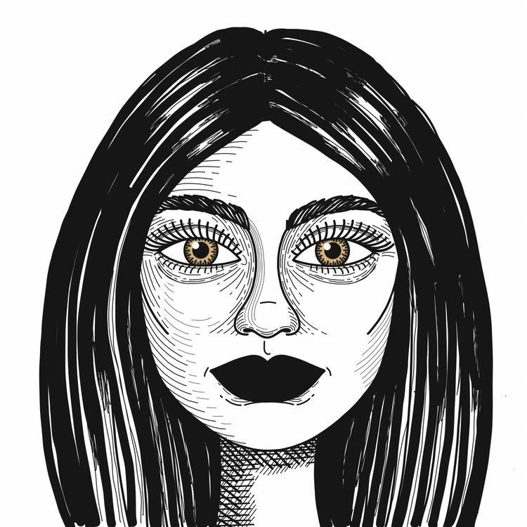 illustration, art, woman, portrait - alicecquaglia | ello