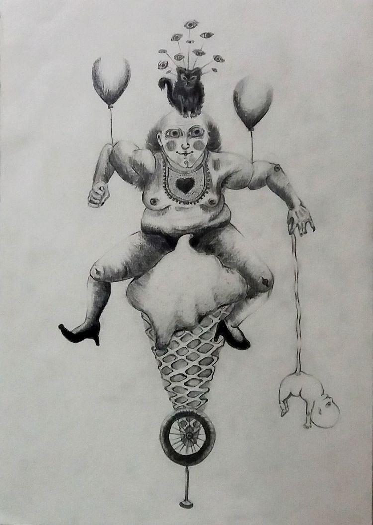 drawing graphite paper,. A4 she - elenisexisto | ello