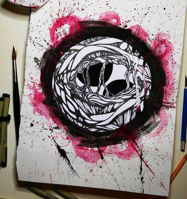 creepy art day. older piece - inktober, - chchchekhov   ello