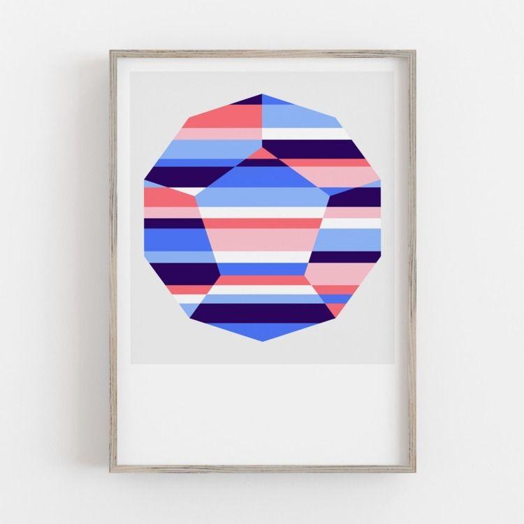 'Dawn' print Crystallise series - alexfoxley   ello