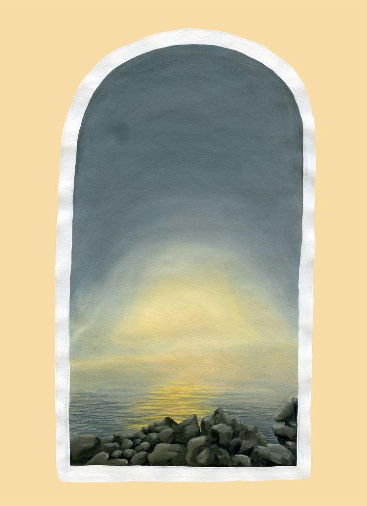 Big Sur, windows series. 9x12,  - hallierosetaylor | ello