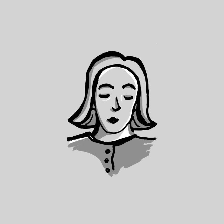 Bored lady - inktober, inktober2018 - paperback | ello