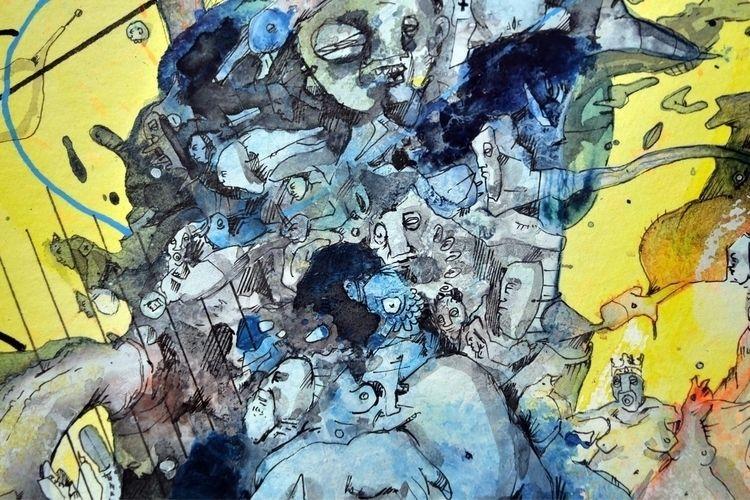 »Glocken«, watercolour/acrylic - krsl | ello