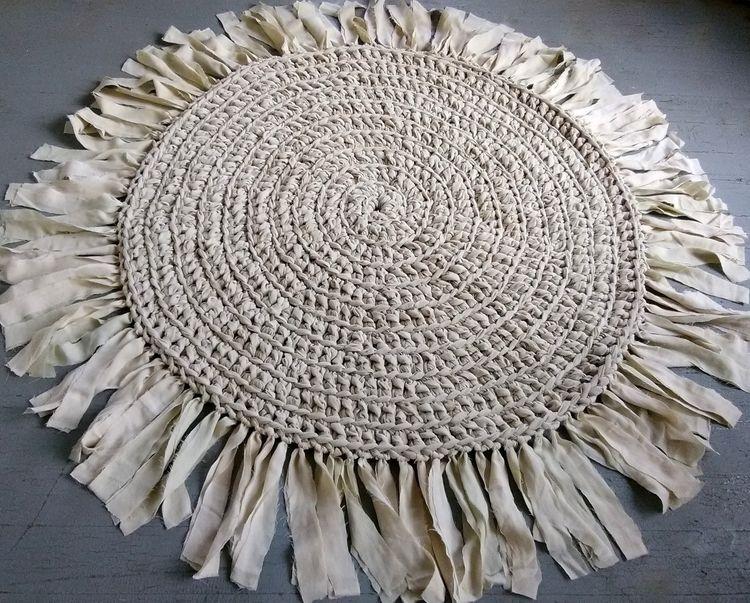SOLD...Rag Rug Handmade Crochet - maryherrigfiberarts | ello