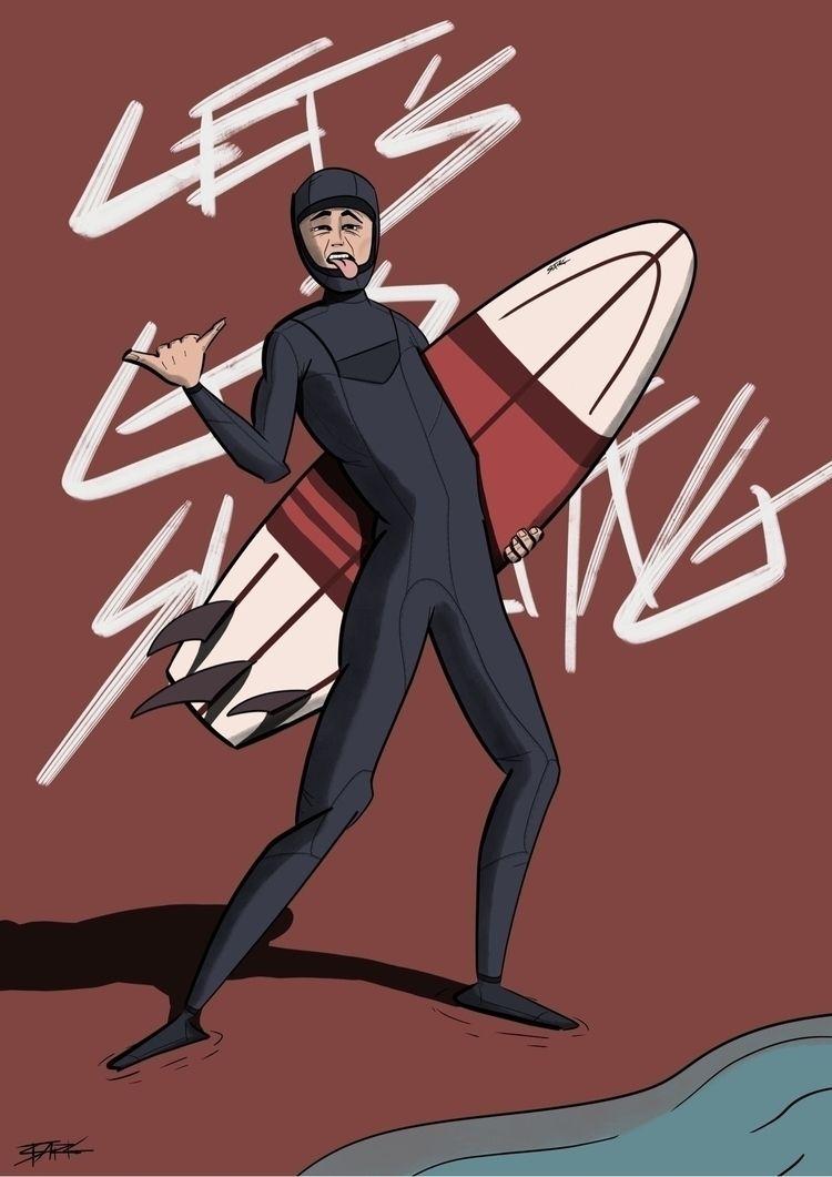 surfing 🤙:type_1_2 - procreate, ipad - kratskcinnay | ello