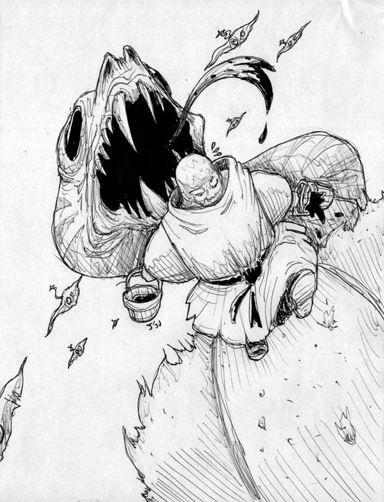 Careless monk stealing blood da - jju | ello