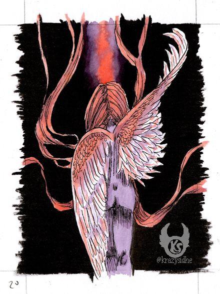 Day 20 - Wings  - storyart, illustration - krazysidhe | ello
