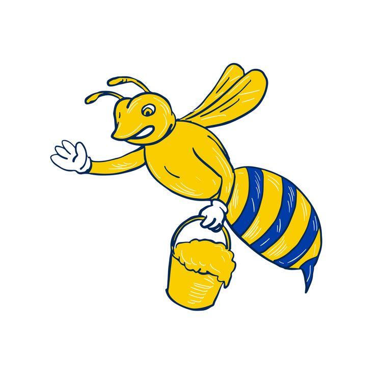 Bumblebee Waving Honey Drawing - patrimonio | ello