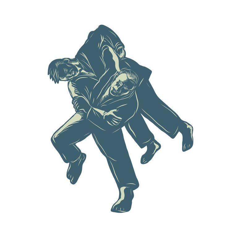 Judo Scratchboard - patrimonio, illustration - patrimonio   ello