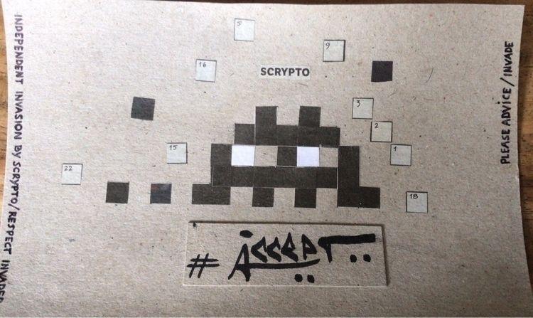 streetart, streetartist, spaceinvader - mumjab | ello
